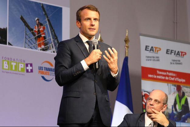 Emmanuel Macron mercredi à Egletons en Corrèze.