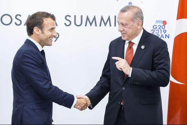 Emmanuel Macron et Recept Tayyip Erdogan.