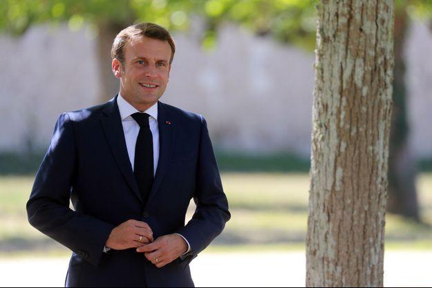 Emmanuel Macron la semaine dernière à Chambord.