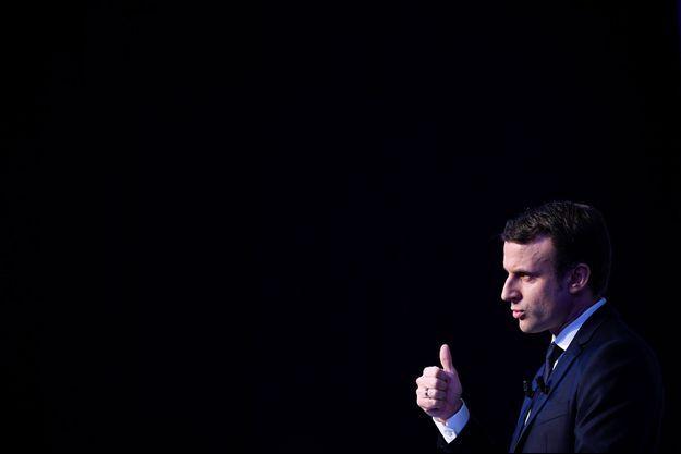 Emmanuel Macron dévoile son programme, jeudi.