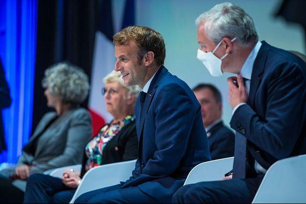 Emmanuel Macron à Paris jeudi.