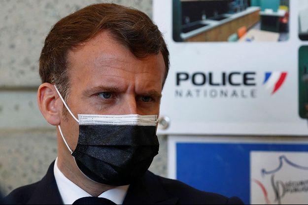 Emmanuel Macron à Montpellier le 19 avril 2021.