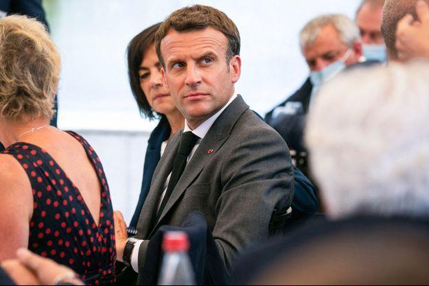 Emmanuel Macron ici à Valence, mardi.