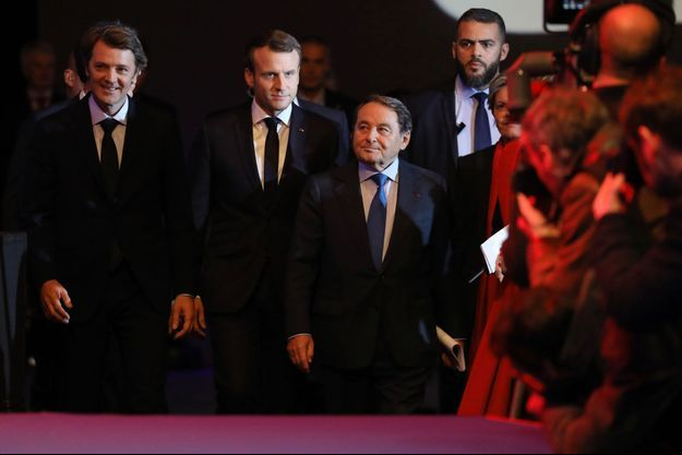 François Baroin et Emmanuel Macron lors du Congrès des maires de France.