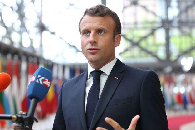 Emmanuel Macron jeudi à Bruxelles.