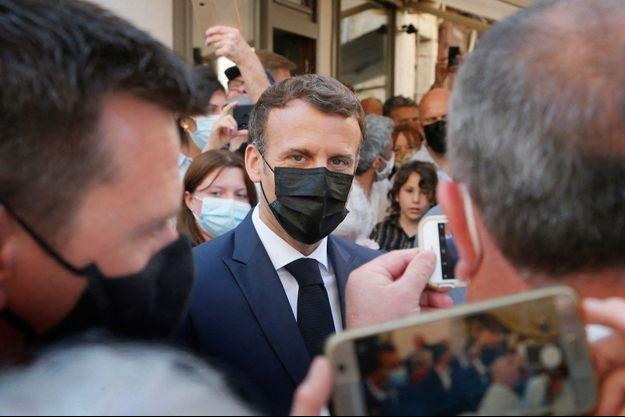 Emmanuel Macron à Martel jeudi.
