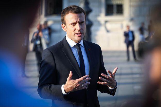Emmanuel Macron au sommet des Balkans, à Trieste, en Italie, le 12 juillet 2017.