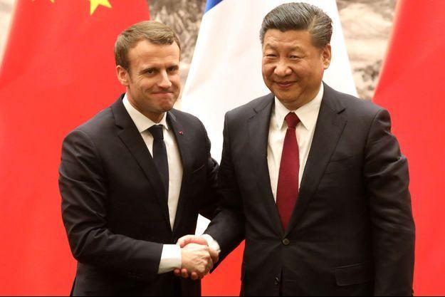 Emmanuel Macron et Xi Jinping, ici à Pékin en janvier 2018.