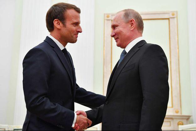 Emmanuel Macron, Vladimir Poutine