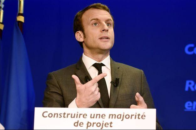 Emmanuel Macron lors de sa conférence de presse à Paris, jeudi.