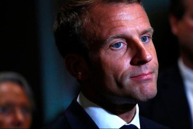 Emmanuel Macron au sommet des Nations unies sur le climat.