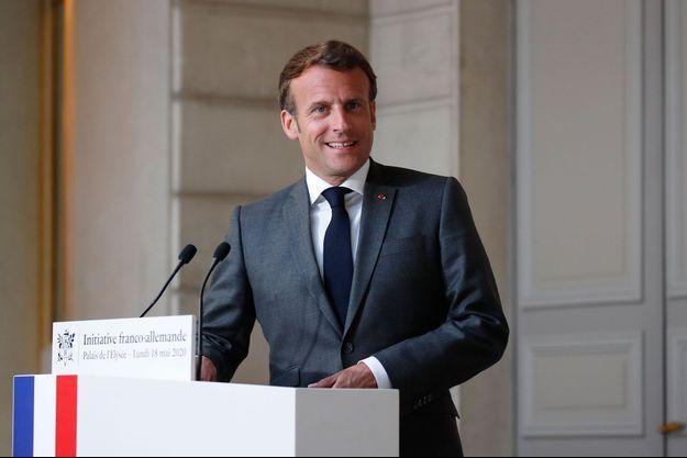 Emmanuel Macron ici à l'Elysée le 18 mai.