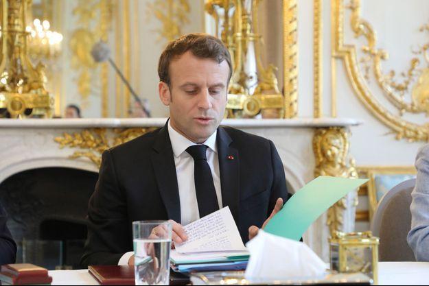 Emmanuel Macron, ici à l'Elysée jeudi.