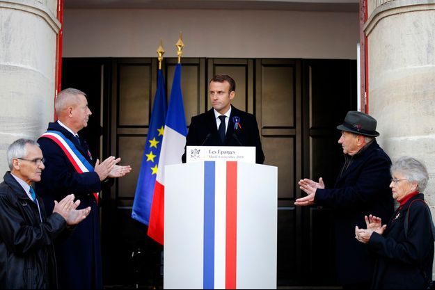 Emmanuel Macron aux Eparges le 6 novembre 2018.