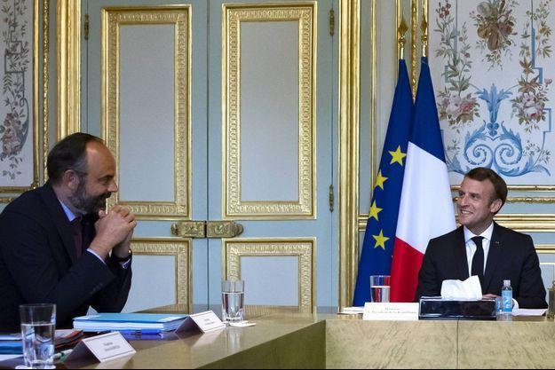 Edouard Philippe et Emmanuel Macron, ici à l'Elysée en juillet dernier.