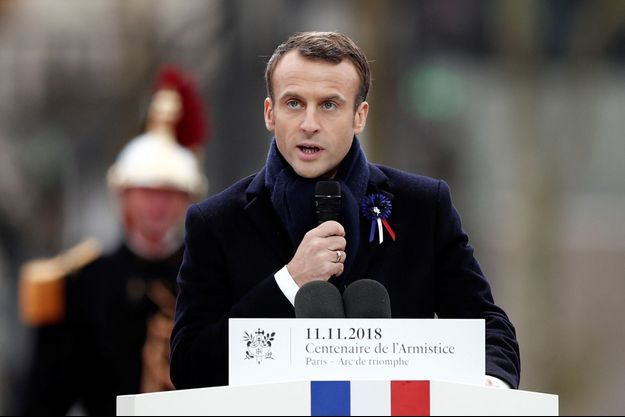 Emmanuel Macron a pris la parole lors des commémorations du 11-Novembre.