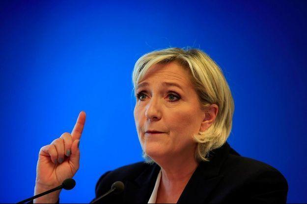 Marine Le Pen à Nanterre, le 9 juillet 2018.
