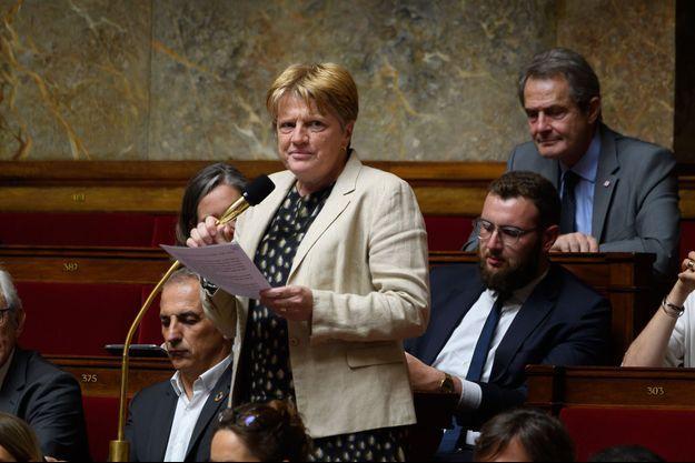 La députée LREM de Seine-et-Marne, Michèle Peyron, en juin 2019 à l'Assemblée.
