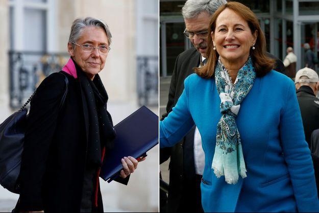 Elisabeth Borne et Ségolène Royal (montage)