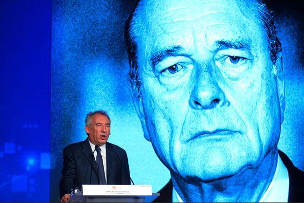François Bayrou à Guidel, dans le Morbihan, dimanche.