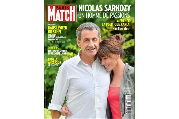 Nicolas Sarkozy et Carla Bruni en couverture de Paris Match numéro 3660.
