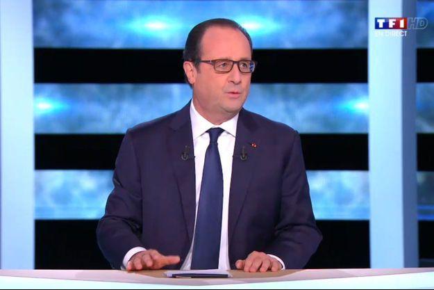 François Hollande sur TF1 jeudi soir.