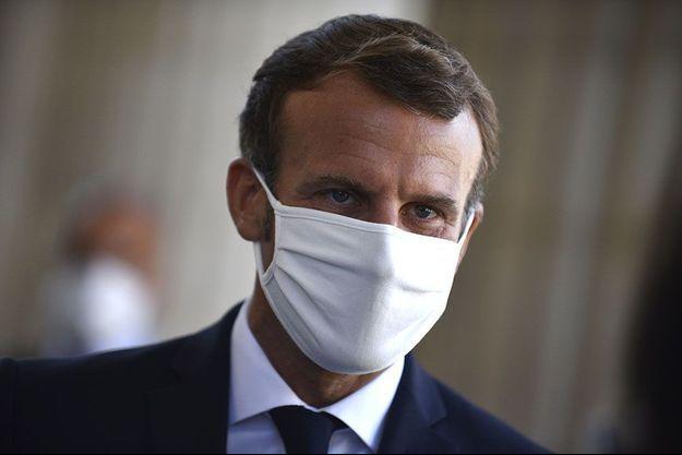 Emmanuel Macron au Panthéon, vendredi.