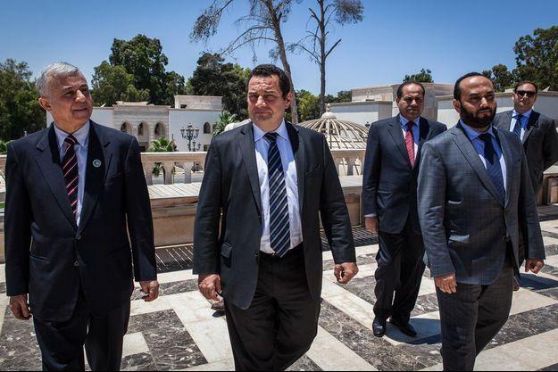 Le député Poisson en voyage en Libye.