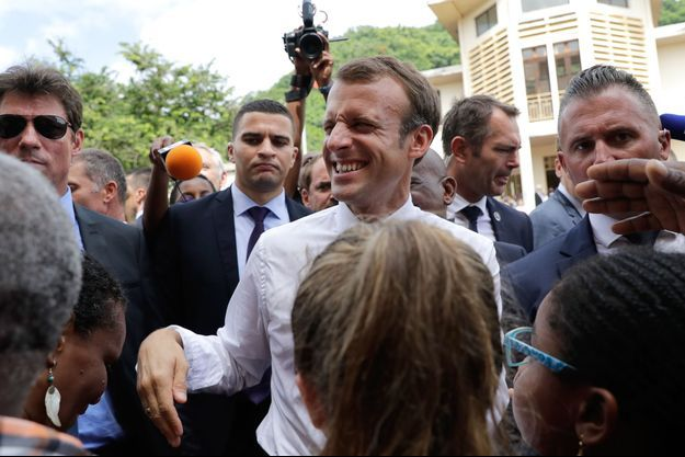 Emmanuel Macron à Saint-Pierre, en Martinique.