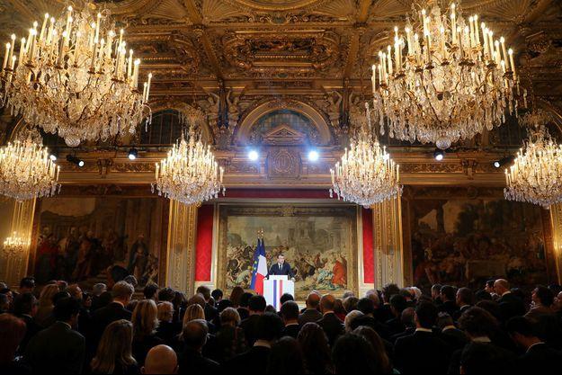 Emmanuel Macron à l'Elysée mercredi.
