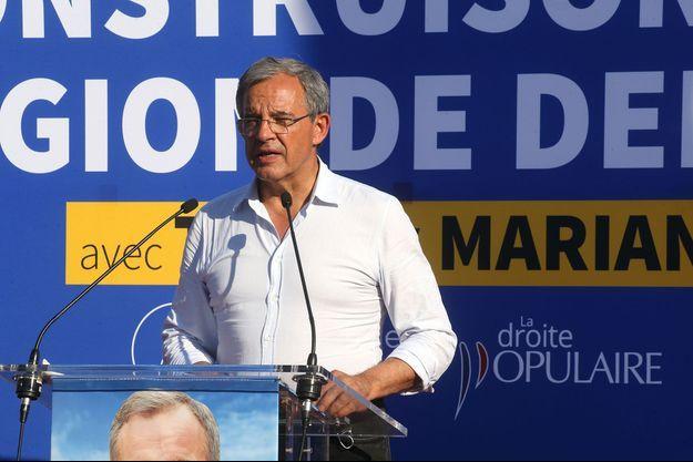 Thierry Mariani lors d'un meeting à Bandol, samedi.