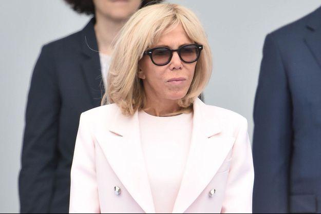 Brigitte Macron ici à Paris lors des cérémonies du 14 juillet.
