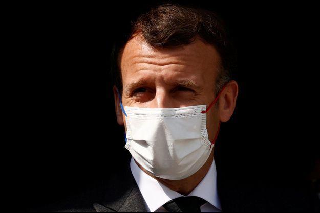 Emmanuel Macron, ici le 14 avril à Reims.