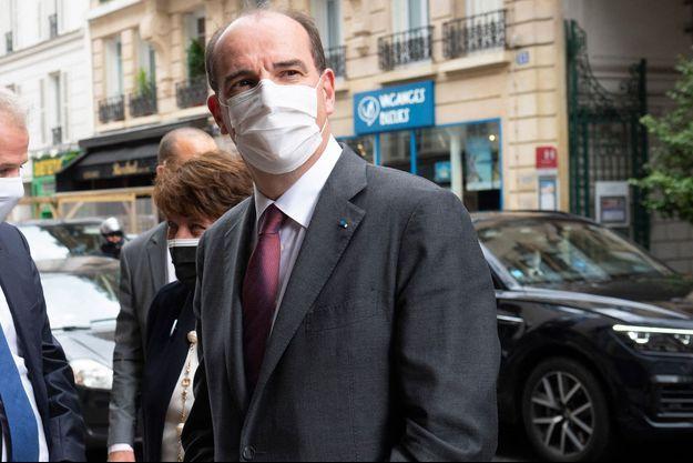 Jean Castex, mercredi avec Roselyne Bachelot dans un cinéma parisien pour marquer le déconfinement.