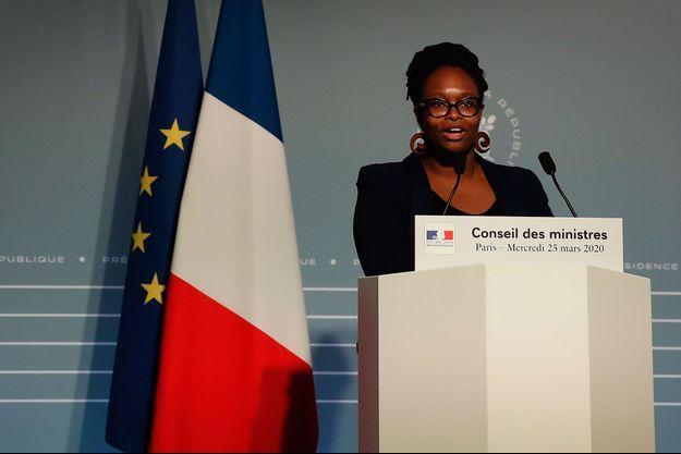 Sibeth Ndiaye, mercredi, lors du point presse à l'issue du Conseil des ministres.