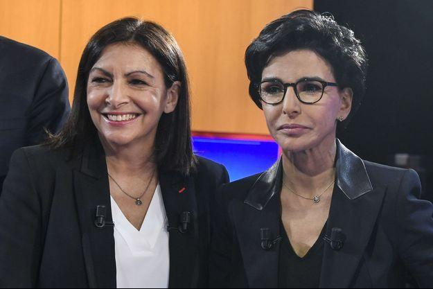 Anne Hidalgo et Rachida Dati lors d'un débat sur LCI, le 4 mars dernier.