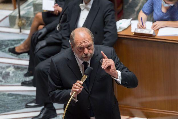 Le ministre de la Justice, Eric Dupond-Moretti, mercredi à l'Assemblée nationale.