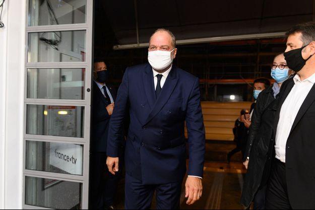 Le ministre de la Justice Eric Dupond-Moretti jeudi soir en marge de l'émission de France 2.
