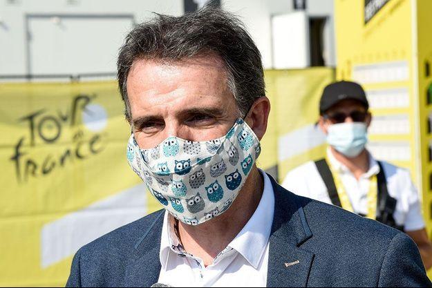 Eric Piolle au départ du Tour de France à Grenoble, le 16 septembre.