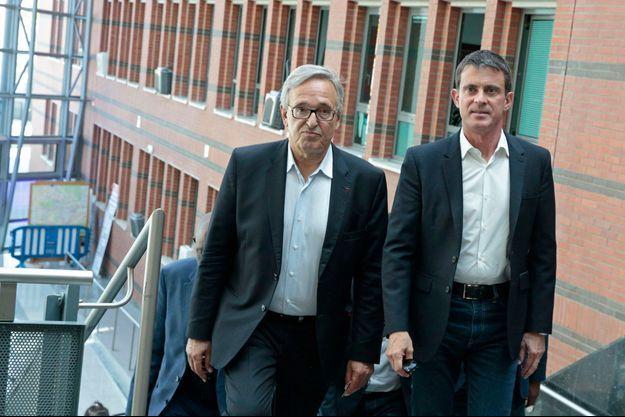 Francis Chouat (à gauche) ici en compagnie de Manuel Valls.