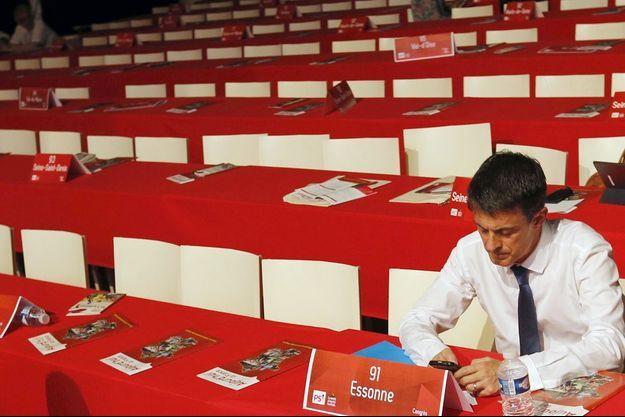 Manuel Valls lors du congrès du Parti socialiste.