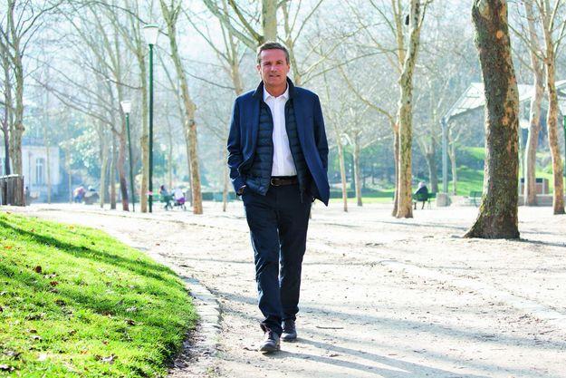 Le président de Debout la France, à Paris.