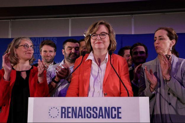 Nathalie Loiseau à la Mutualité de Paris.