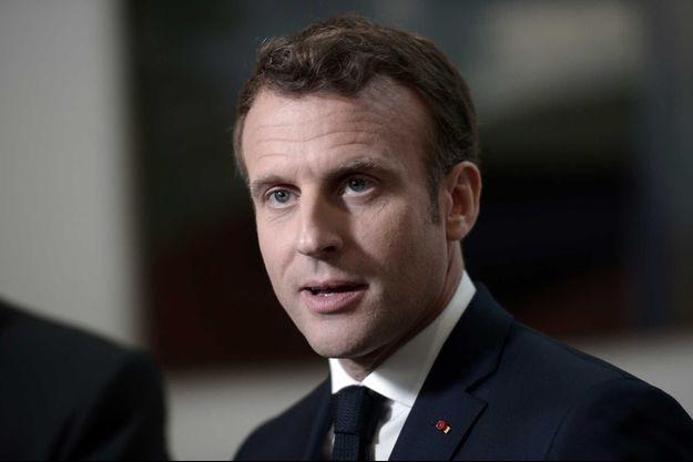 Emmanuel Macron, à Biarritz vendredi.