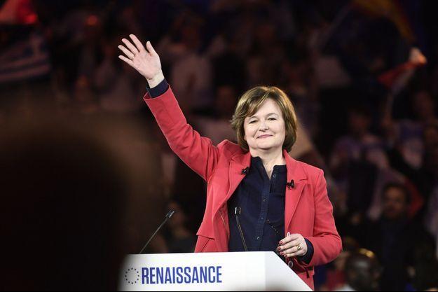 Nathalie Loiseau lors de son premier meeting à la tête de la liste LREM-Modem pour les européennes.