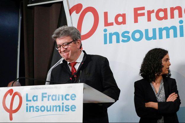 Jean-Luc Mélenchon et Manon Aubry le 26 mai 2019.