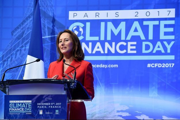 Ségolène Royal lors du Finance Climate Day le 11 décembre 2017.