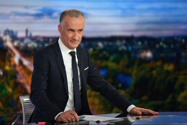 Gilles Bouleau (photo) a co-présenté la soirée électorale avec Anne-Claire Coudray.