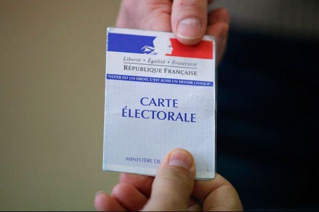 Une carte électorale
