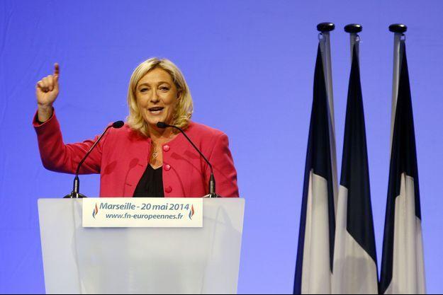 Marine Le Pen en meeting à Marseille, mardi dernier.